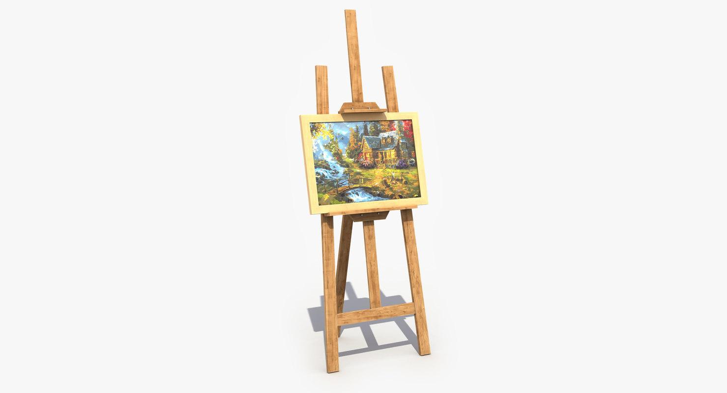 2 modeled gallery 3D model