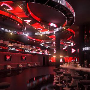scene club lounge 3D model
