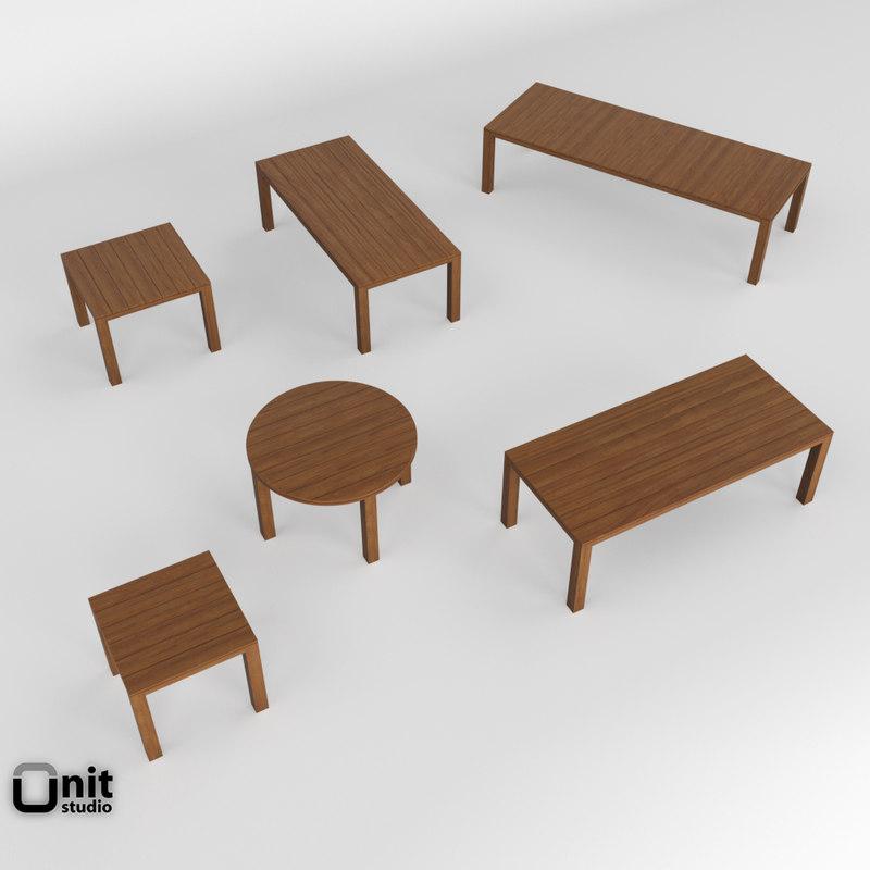 kos outdoor table 3D model