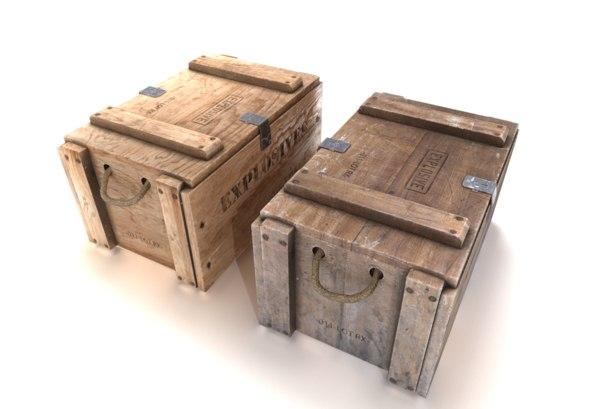 crate explosives 2 3D model