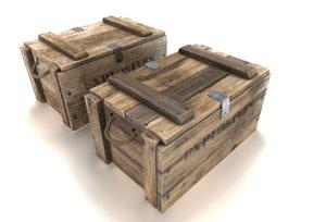 3D model crate explosives