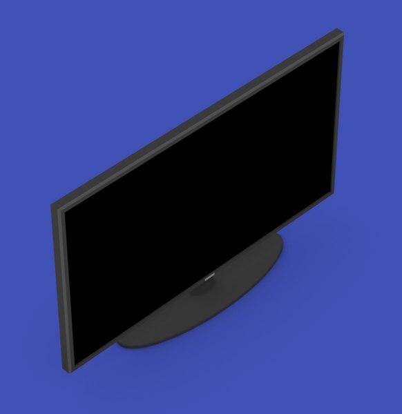 tv flat screen 3D model
