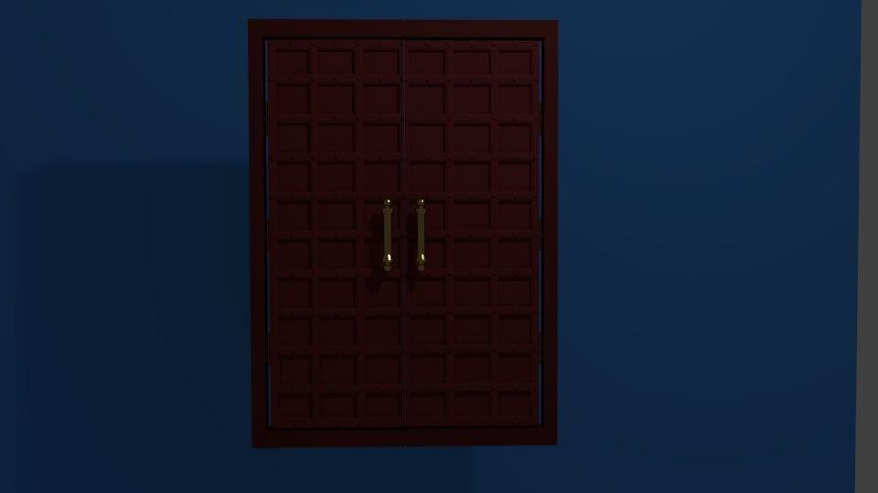 3D iron door metal model