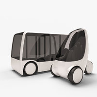 future concept city vehicles 3D model