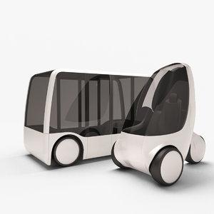 future concept city vehicles 3D model