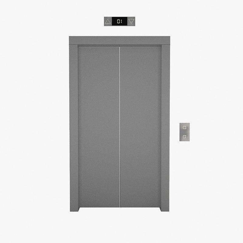 3D model elevator door