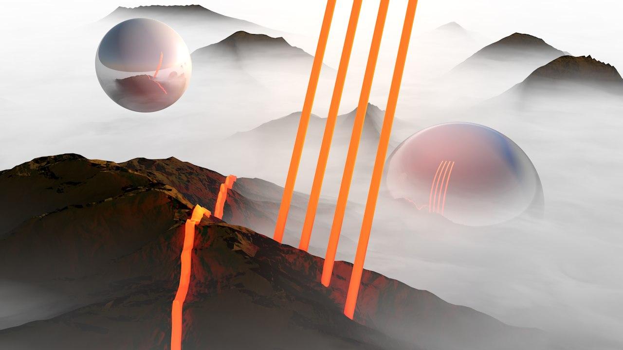 sci-fi landscape 3D