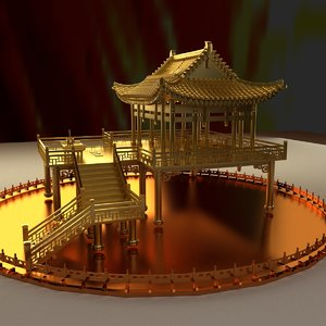 3D model chinese ancient house