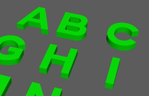 3D alphabet letters b