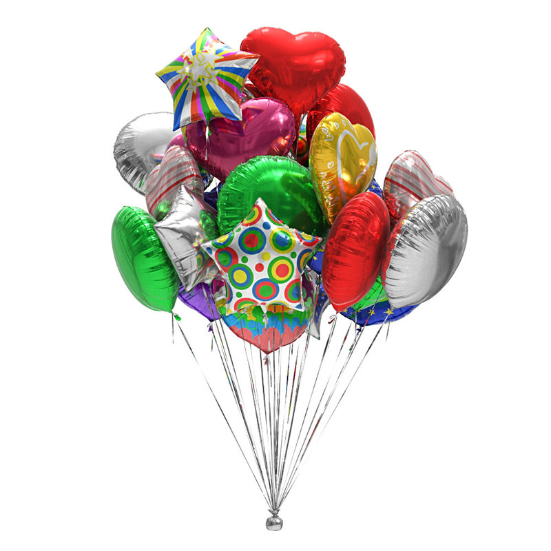 foil balloons 3D model