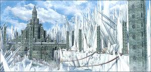 castle fantasy snow 3D model