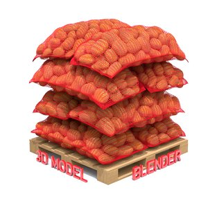 potato sacks 3D