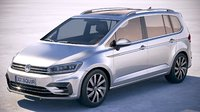 volkswagen touran r-line 3D model