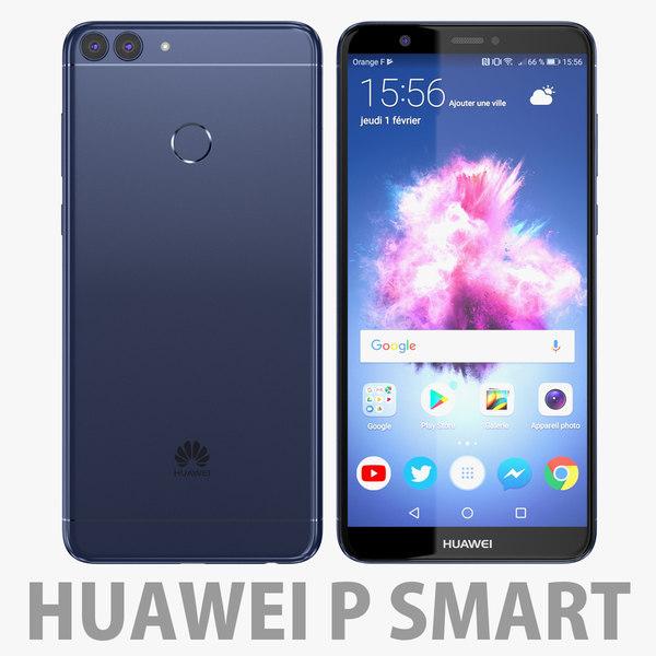 3D huawei p blue