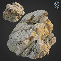 scanned rock cliff m 3D model