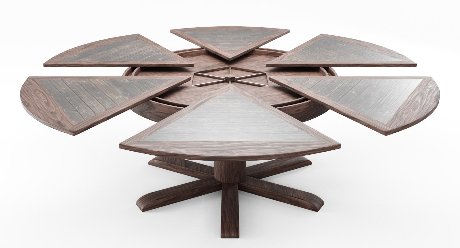 3D model dining table leaves