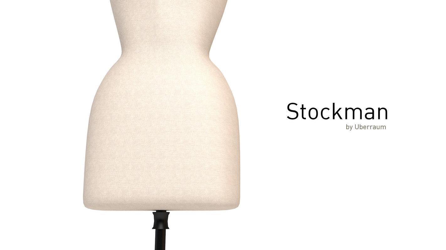 3D stockwoman designed