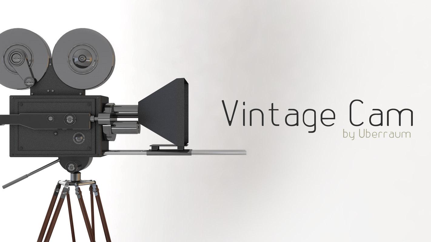 3D vintage camera