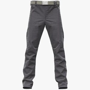 realistic gray cargo pants 3D
