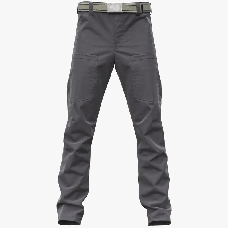 realistic gray cargo pants 3D