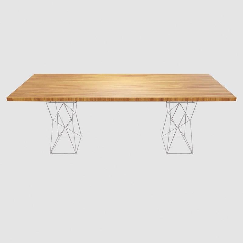 3D geometric shape wooden table model