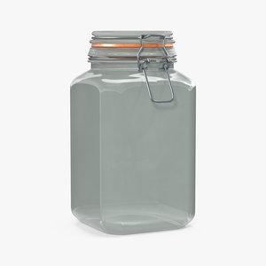 glass jar lock 03 3D model