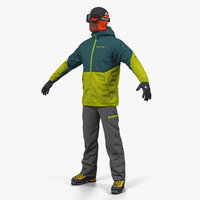 3D winter hiking gear