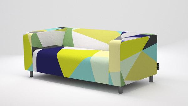 3D model ikea klippan sofa artefly