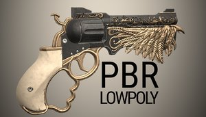 3D vintage revolver