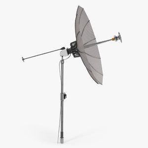 3D mesh dish antenna model