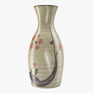 3D japanese vase