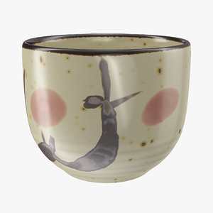 japanese cup 3D