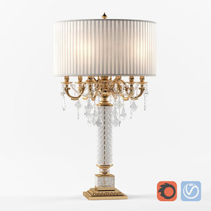 3D crystal table lamp zanaboni