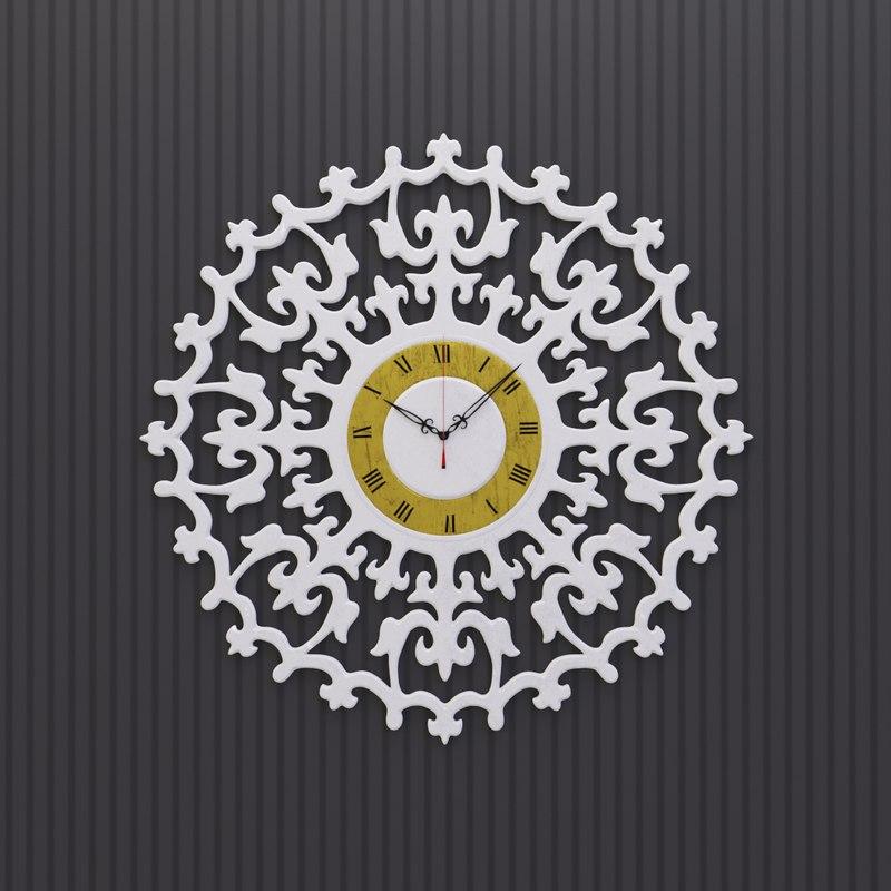 3D model ancient romance wall clock