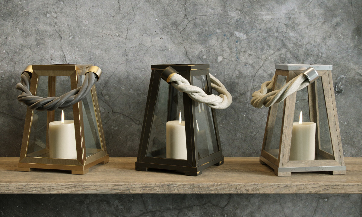 3D model pack candles