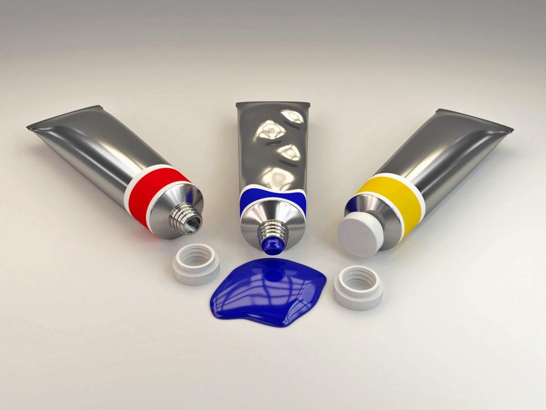 tube paint 3D model