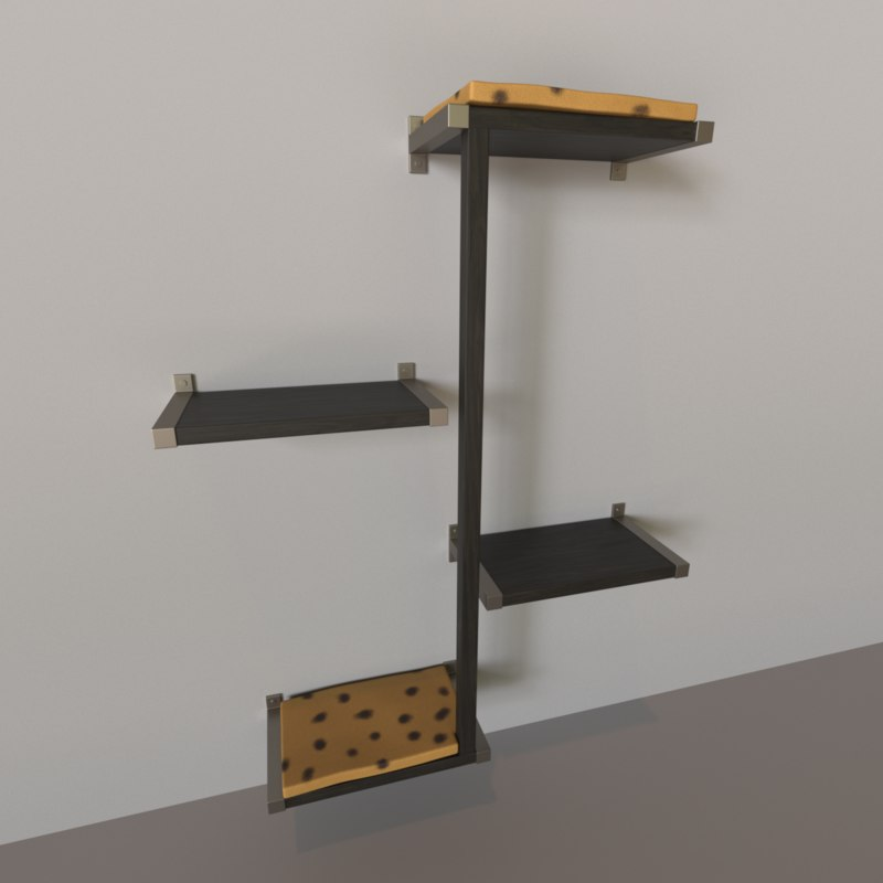 3D model wall cat tree