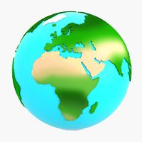 3D model cartoon earth