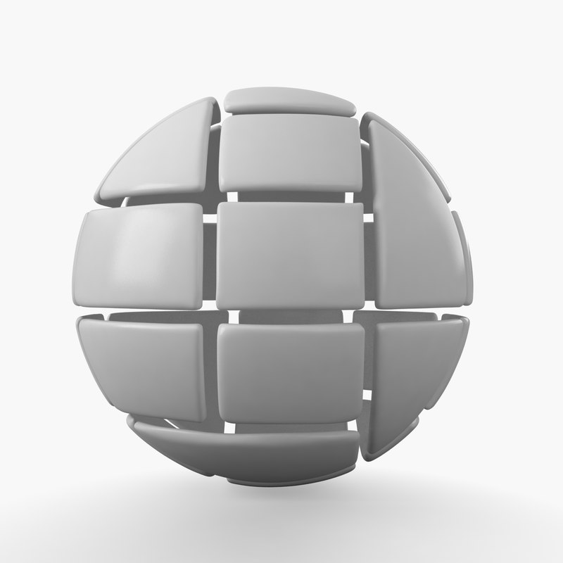 globe puzzle 3D model