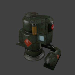 sci-fi fuel tank 3D model
