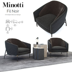 armchair noir minotti fil model