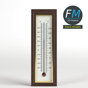 3D wall thermometer