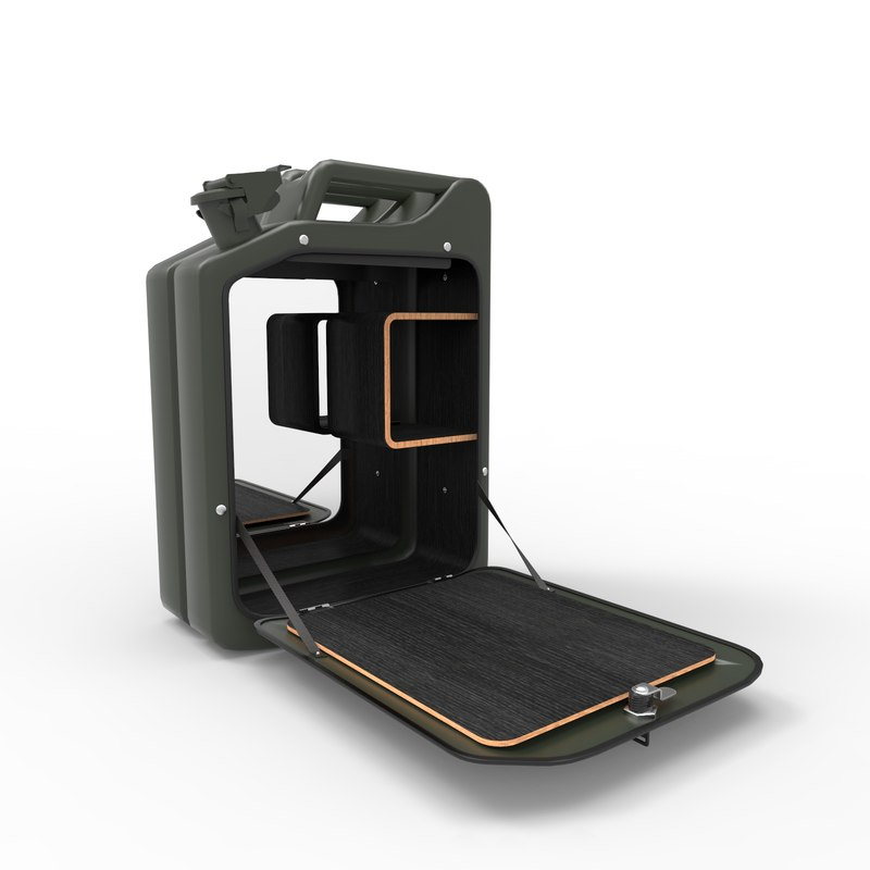 danish fuel cabinets 3D model