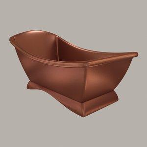 modern copper bath 3D