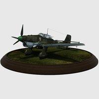 german junkers ju87b-1 stuka 3D model
