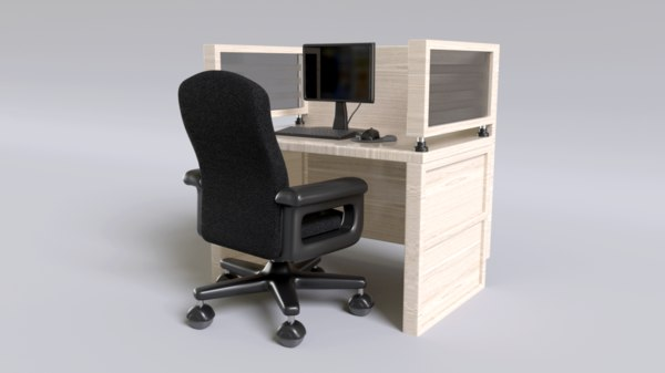 3D model business centers station office