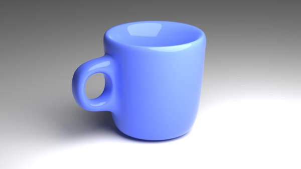 3D mug modeled