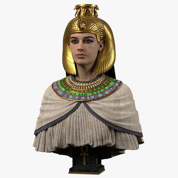 3D egyptian queen model