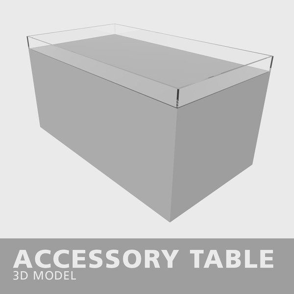 3D accessory table glass model