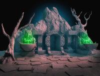 cave-entrance cave entrance 3D